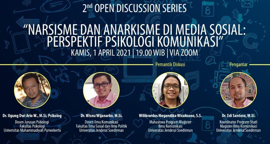 Diskusi Online: 'Waspadai Narsisme dan Anarkisme di Media Sosial'